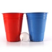 Kit 12 Red Blue Cup Party Americano 400ml e 2 Bolas Beer Pong