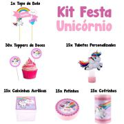 Kit Festa Tema Unicórnio