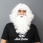 Kit Papai Noel com Barba e Peruca