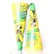 Lança Confete Cone Chuva Verde E Amarelo