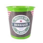 Lembrancinha Balde de Pipoca Boteco Estilo Heineken