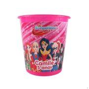 Lembrancinha Balde de Pipoca DC Super Hero Girls