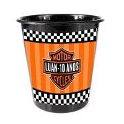 Lembrancinha Balde de Pipoca Personalizado Harley-Davidson