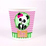 Balde de Pipoca Panda Rosa Personalizado