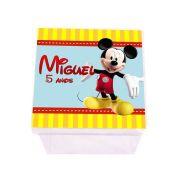 Lembrancinha Caixa Acrílica Personalizada A Casa do Mickey