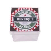Lembrancinha Caixa Acrílica Personalizada Boteco Estilo Heineken