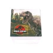 Lembrancinha Caixa Acrílica Personalizada Dinossauros Jurassic World