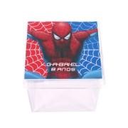 Lembrancinha Caixa Acrílica Personalizada Homem Aranha