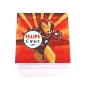Lembrancinha Caixa Acrílica Personalizada  Homem de Ferro