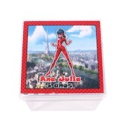 Lembrancinha Caixa Acrílica Personalizada Lady Bug Miraculous