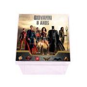 Lembrancinha Caixa Acrílica Personalizada Liga da Justiça