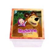 Lembrancinha Caixa Acrílica Personalizada Masha e o Urso