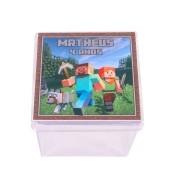 Lembrancinha Caixa Acrílica Personalizada Minecraft