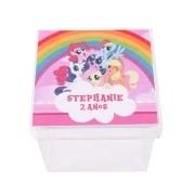 Lembrancinha Caixa Acrílica Personalizada  My Little Pony
