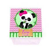 Lembrancinha Caixa Acrílica Personalizada Panda Rosa