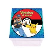 Lembrancinha Caixa Acrílica Personalizada Pokemon