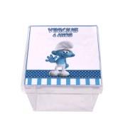 Lembrancinha Caixa Acrílica Personalizada  Smurfs