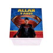 Lembrancinha Caixa Acrílica Personalizada SuperMan