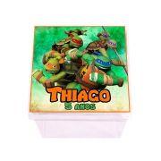 Lembrancinha Caixa Acrílica Personalizada Tartarugas Ninja