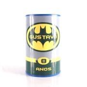 Cofrinho Batman Personalizado com Nome e Idade