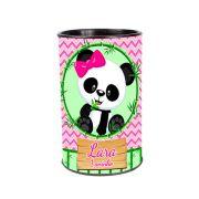Lembrancinha Cofrinho Personalizado Panda Rosa