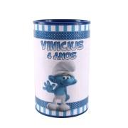 Lembrancinha Cofrinho Personalizado Smurfs