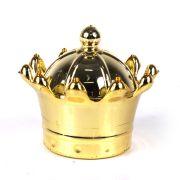 Caixa Redonda Coroa Dourada com Tampa