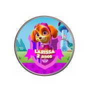 Lembrancinha Pote Alumínio Personalizado Skye Patrulha Canina
