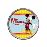 Lembrancinha Potinho Alumínio Personalizado A Casa do Mickey
