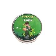 Lembrancinha Potinho De Alumínio Personalizado Ben 10