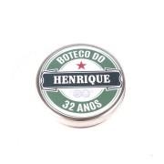 Lembrancinha Potinho De Alumínio Personalizado Boteco Estilo Heineken