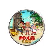 Lembrancinha Potinho De Alumínio Personalizado Jake e os Piratas
