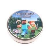 Lembrancinha Potinho De Alumínio Personalizado Minecraft