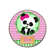 Lembrancinha Potinho De Alumínio Personalizado Panda Rosa