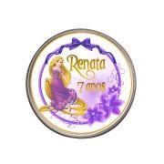 Lembrancinha Potinho De Alumínio Personalizado Rapunzel