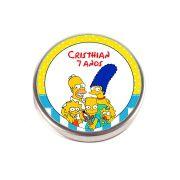 Lembrancinha Potinho De Alumínio Personalizado Simpsons