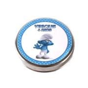Lembrancinha Potinho De Alumínio Personalizado Smurfs