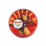 Lembrancinha Potinho Plástico Personalizado Homem de Ferro