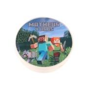 Lembrancinha Potinho Plástico Personalizado Minecraft