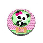Lembrancinha Potinho Plástico Personalizado Panda Rosa