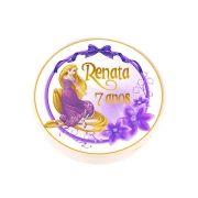 Lembrancinha Potinho Plástico Personalizado Rapunzel