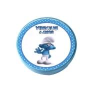 Lembrancinha Potinho Plástico Personalizado Smurfs
