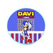 Lembrancinha Potinho Plástico Personalizado Sonic