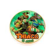 Lembrancinha Potinho Plástico Personalizado Tartarugas Ninja