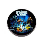 Lembrancinha Potinho Plástico Personalizado Transformers