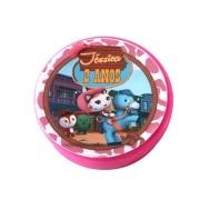 Lembrancinha Potinho Plástico Personalizado Xerife Callie