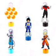 Lembrancinha Tubete 3D Dragon Ball 5 unidades