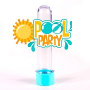Lembrancinha Tubete Personagem 3D Pool Party Logo