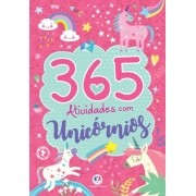 Livro 365 Atividades Com Unicornios Menina Rosa Infantil - Ciranda Cultural
