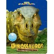 Livro com 4 Quebra Cabeças Tiranossauro Rex - Ciranda Cultural